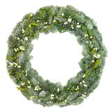 Mistletoe and Spruce Fir Wreath Royalty Free Stock Images