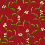 Mistletoe wallpaper pattern Stock Photos