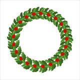 Mistletoe wreath isolated. Traditional Christmas decoration. Fes Royalty Free Stock Photography