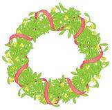 Mistletoe wreath isolated on white Stock Photography