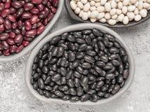 Misto dei fagioli neri, rossi e bianchi Immagine Stock Libera da Diritti