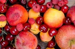 misto molti frutti stagionali differenti immagine stock