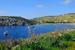 Mistra-Bucht Malta stockbilder