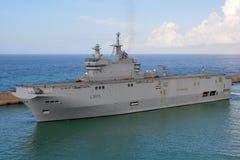 Mistral L9013. French ship Mistral L9013, amphibious assault ship royalty free stock photo