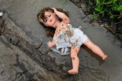 Mistreatment and abuse of children. Symbol of mistreatment and abuse of children Royalty Free Stock Photo
