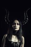 Mistress in black Royalty Free Stock Photo