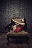 Mistress in red Royalty Free Stock Image