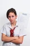 Mistroostig tienerschoolmeisje 8 Stock Afbeelding