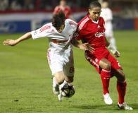 mistrzów Debrecen ligowy Liverpool zapałczany uefa vs Zdjęcia Royalty Free