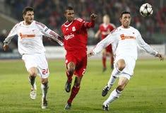 mistrzów Debrecen ligowy Liverpool zapałczany uefa vs Zdjęcie Royalty Free