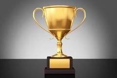 Mistrz filiżanki złocisty trofeum zdjęcie royalty free