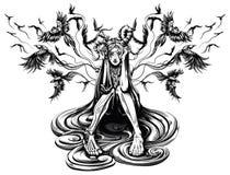 Mistrz kruki royalty ilustracja