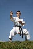 mistrza karate kata szkolenie zdjęcie stock