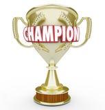 Mistrza słowa Złotego trofeum Nagrodzony Najlepszy występ royalty ilustracja