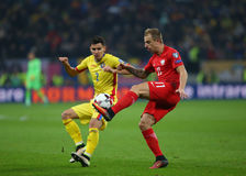 29 2011 mistrzostw europejski Luxembourg maszerują neamt piatra target1464_0_ Romania europejskiego uefa vs Polska - Europejski o Obrazy Stock