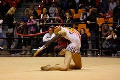 mistrzostw gimnastyk włoch rytmiczny zdjęcie royalty free