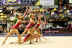 mistrzostw gimnastyk włoch rytmiczny Obraz Royalty Free