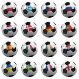 mistrzostwa euro piłki nożnej drużyny royalty ilustracja