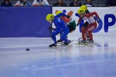 mistrzostwa europejski krótki łyżwiarstwa prędkości ślad Fotografia Royalty Free