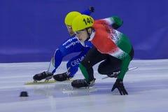 mistrzostwa europejski krótki łyżwiarstwa prędkości ślad Zdjęcia Royalty Free