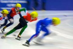 mistrzostwa europejski krótki łyżwiarstwa prędkości ślad Obraz Royalty Free
