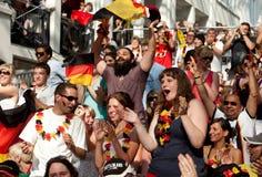 mistrzostwo wachluje Germany piłki nożnej świat Zdjęcia Royalty Free