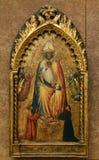Mistrzowie Di San Martino Mensola: St Nicholas i dawcy z aniołami obraz royalty free