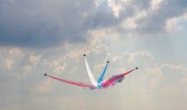 Mistrzowscy zwrota cztery samoloty Obrazy Royalty Free