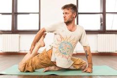 mistrzu jogi człowieku Obraz Royalty Free