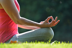 mistrzu jogi kobiety obrazy stock