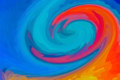 A mistura abstrata do fractal da textura do fundo colore a textura colorida vermelha alaranjada azul foto de stock