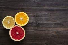 Mistura arranjada de citrinas Foto de Stock Royalty Free