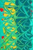 Mistura colorida da pintura Foto de Stock Royalty Free