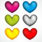Mistura colorida dos corações ilustração do vetor