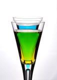 Mistura da cor do cocktail Foto de Stock