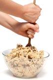 Mistura da massa de pão do bolinho imagens de stock royalty free