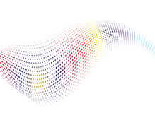 Mistura da onda do arco-íris Foto de Stock Royalty Free