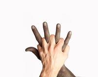 Mistura das mãos Fotos de Stock