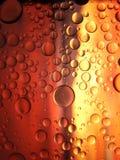 Mistura de arte do macro da água e do óleo fotografia de stock