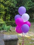Mistura de balões coloridos fotos de stock