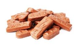 Mistura de barras de chocolate foto de stock