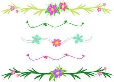 Mistura de beiras da flor e da folha Foto de Stock
