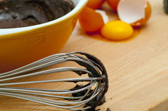 Mistura de bolo do chocolate Foto de Stock