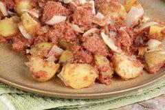 Mistura de carne em lata Fotos de Stock Royalty Free