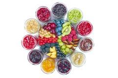 Mistura de doces e de frutos Fotografia de Stock