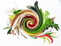 Mistura de ervas & de especiarias frescas Fotos de Stock