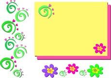 Mistura de espirais e de flores Fotos de Stock Royalty Free