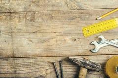 Mistura de ferramentas do trabalho foto de stock