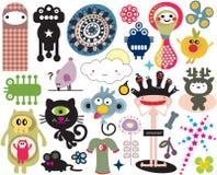 Mistura de imagens e de ícones diferentes. vol.16 Fotos de Stock Royalty Free