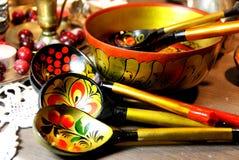 Mistura de lembranças tradicionais do russo Fotografia de Stock